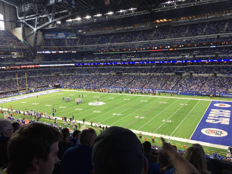 Seating view for Lucas Oil Stadium Section 309 Row 5 Seat 1