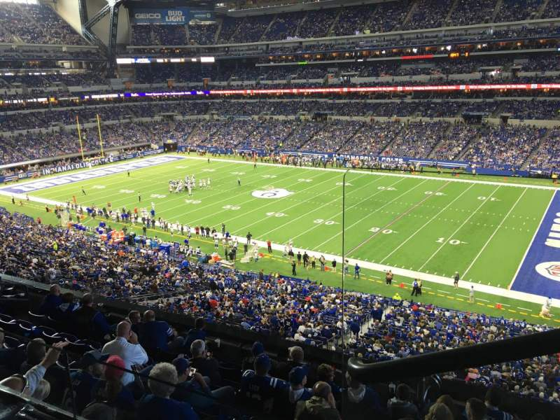 Seating view for Lucas Oil Stadium Section 409 Row 2 Seat 1