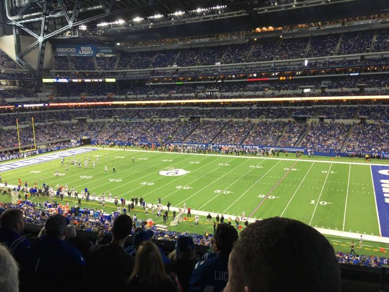 Seating view for Lucas Oil Stadium Section 310 Row 5 Seat 1