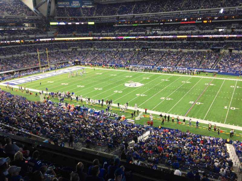 Seating view for Lucas Oil Stadium Section 410 Row 1 Seat 1