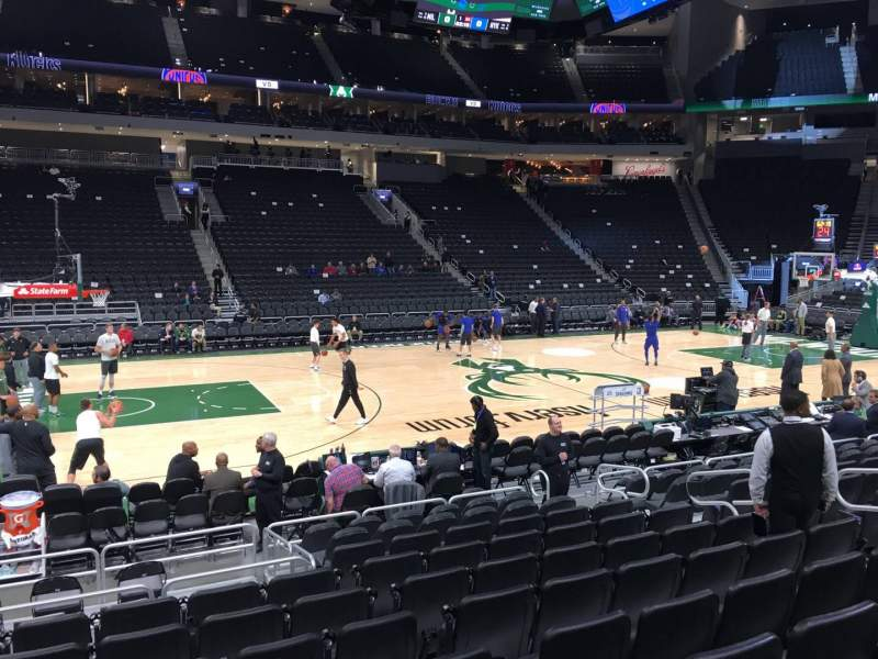 Seating view for Fiserv Forum Section 118 Row 9 Seat 10