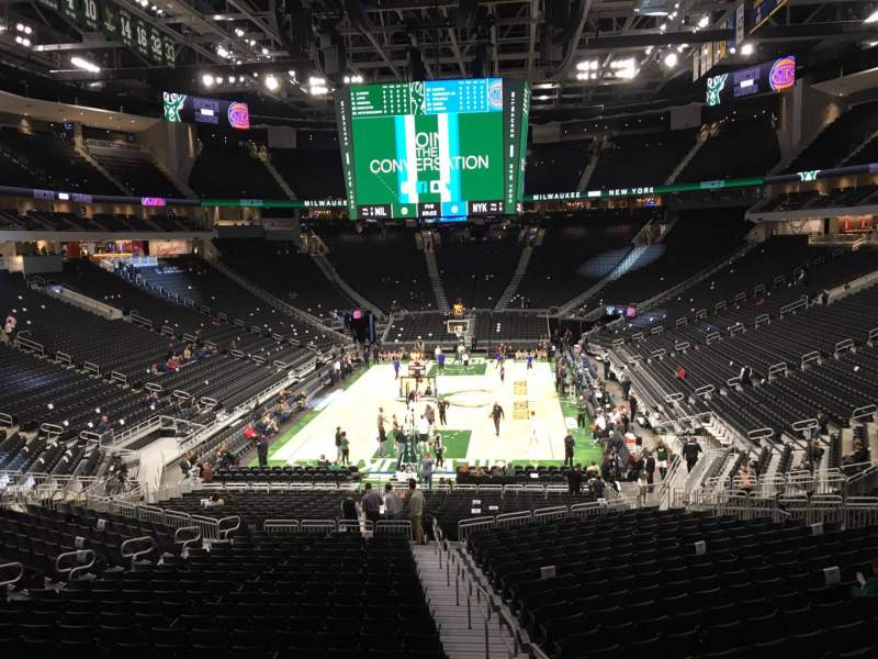 Seating view for Fiserv Forum Section 122 Row ADA Seat 1