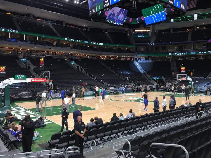 Seating view for Fiserv Forum Section 108 Row 6 Seat 5