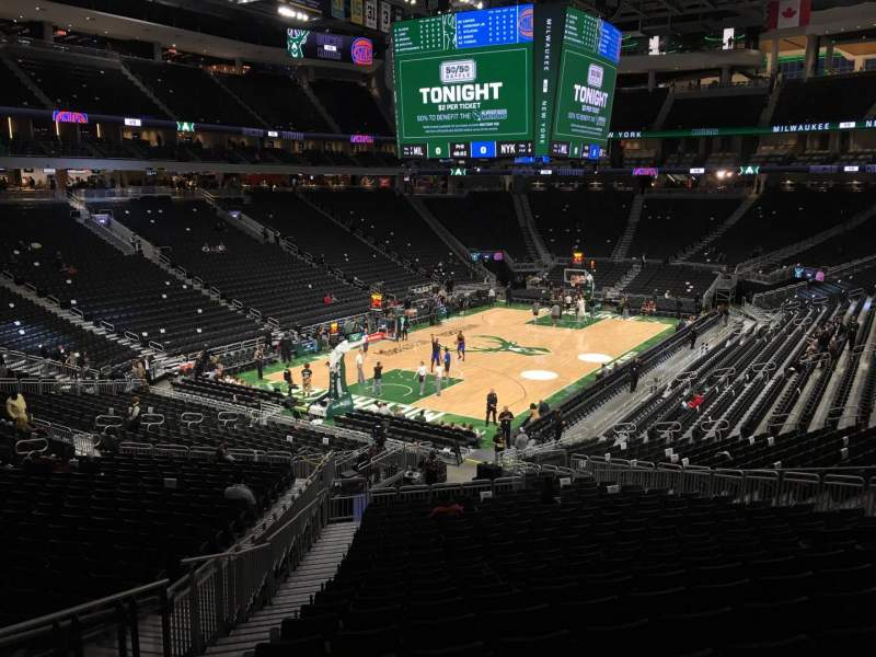Seating view for Fiserv Forum Section 109 Row 28 Seat 20