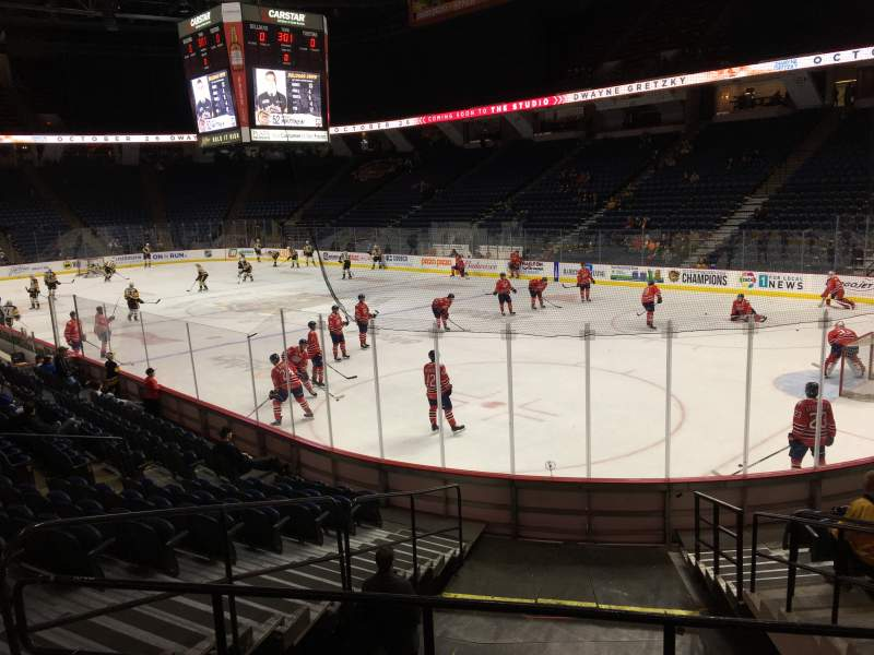 Seating view for FirstOntario Centre Section 104 Row 13 Seat 6