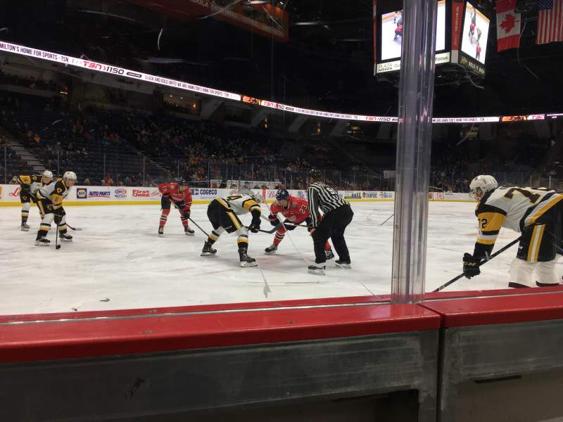 Seating view for FirstOntario Centre Section 112 Row 1 Seat 2