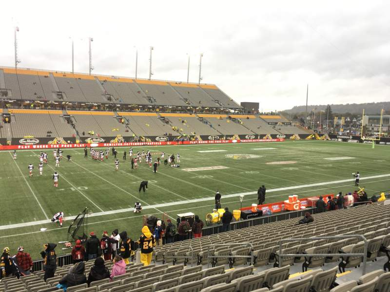 Seating view for Tim Hortons Field Section 108 Row 19 Seat 8