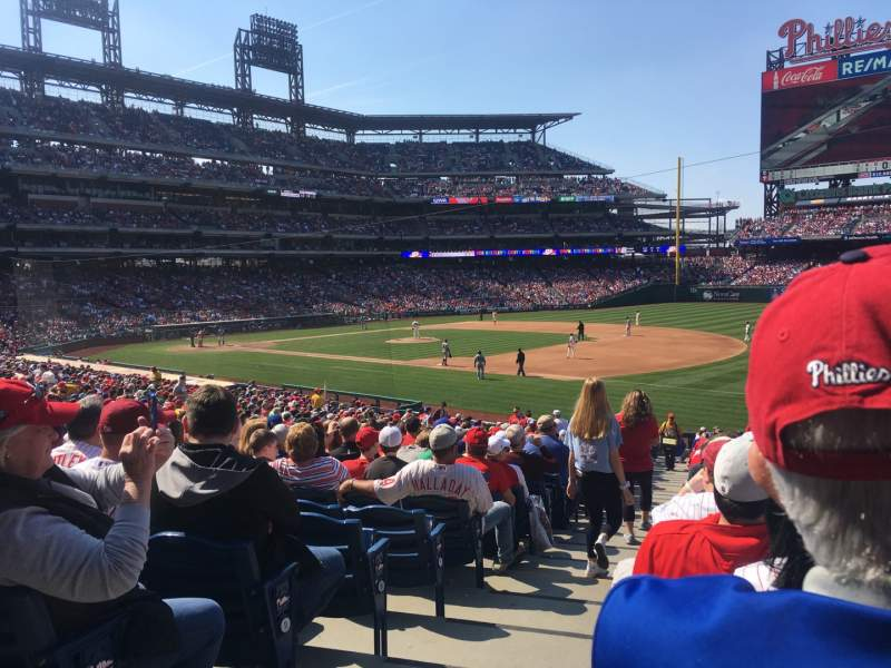 Seating view for Citizens Bank Park Section 112 Row 34 Seat 18