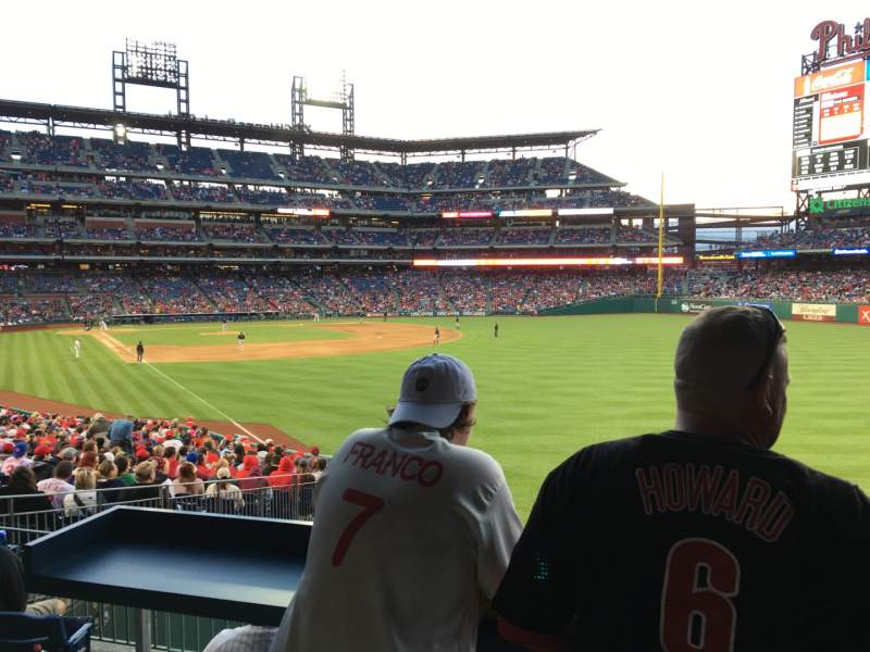 Seating view for Citizens Bank Park Section 107 Row Sro