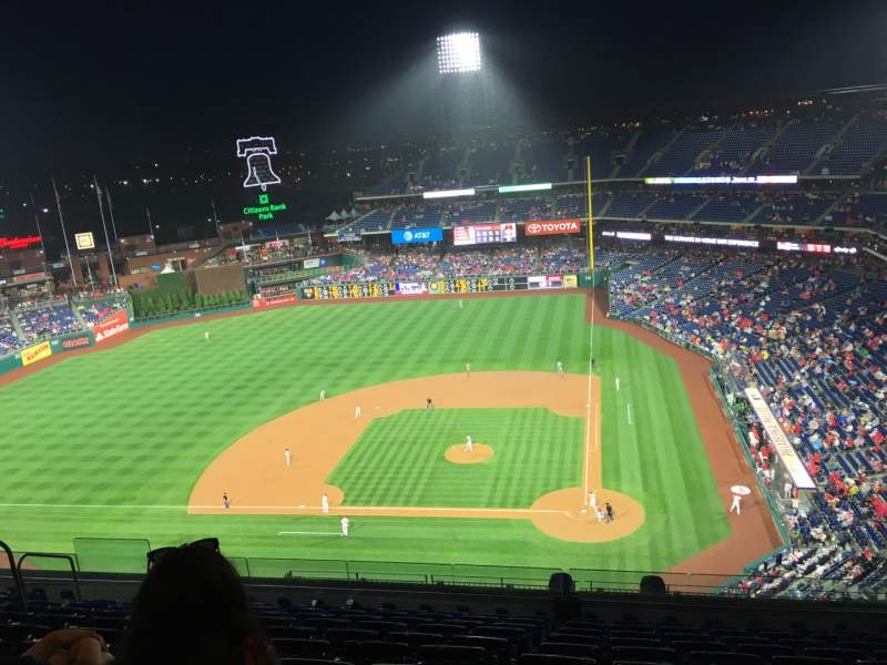 Seating view for Citizens Bank Park Section 424 Row 11 Seat 11
