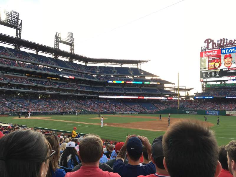 Seating view for Citizens Bank Park Section 113 Row 17 Seat 6