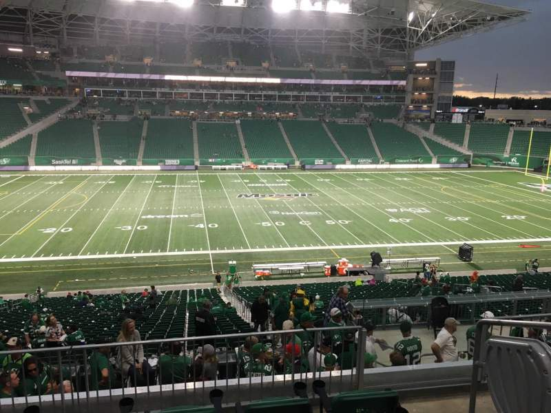 Seating view for Mosaic Stadium Section 317 Row 4 Seat 3