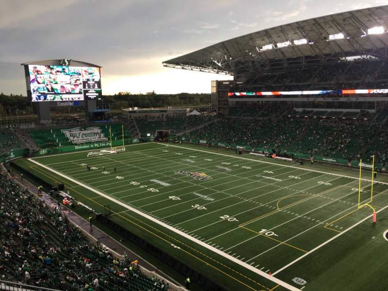 Seating view for Mosaic Stadium Section 531 Row 6 Seat 12