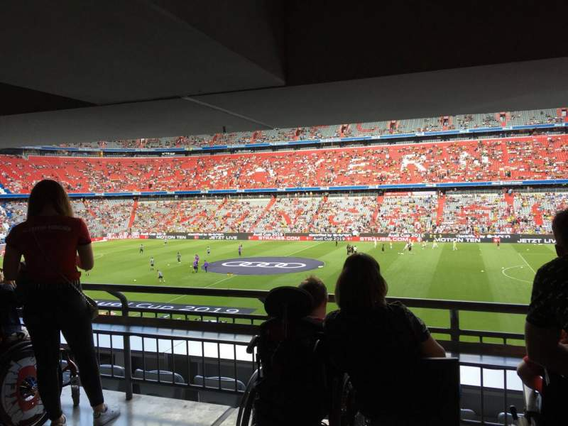 Seating view for Allianz Arena Section 105 Row wc