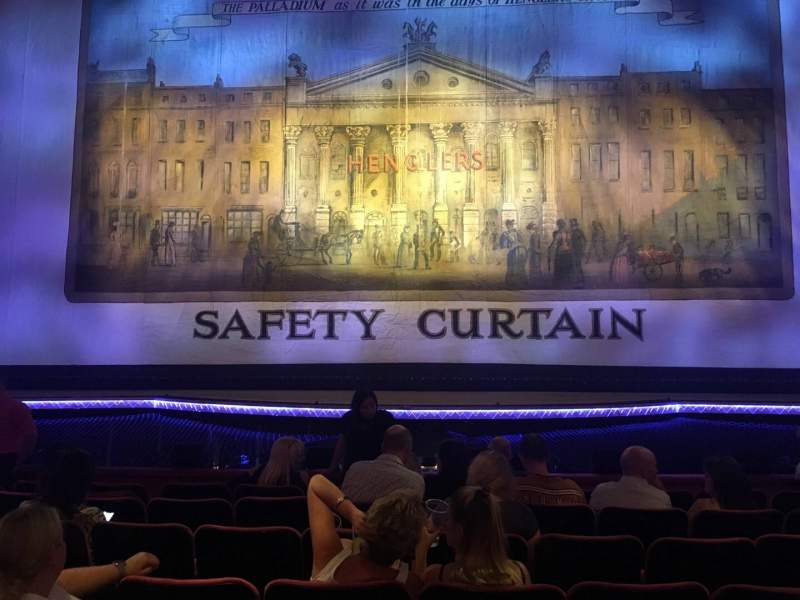 Seating view for The London Palladium Section Stalls Row H Seat 21