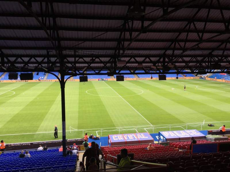 Seating view for Selhurst Park Section E Row 33 Seat 105