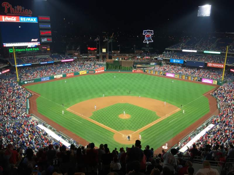 Seating view for Citizens Bank Park Section 421 Row 16 Seat 9