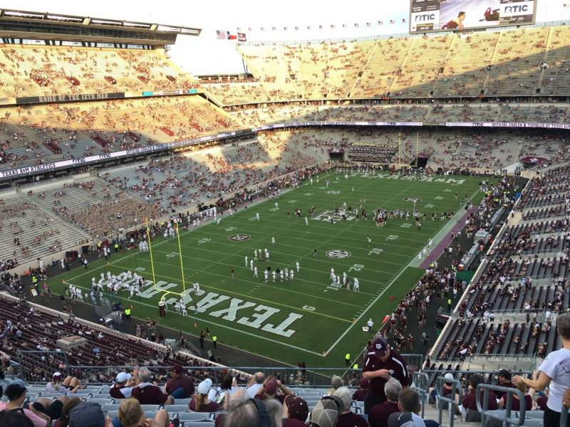 Seating view for Kyle Field Section 316 Row 13 Seat 2