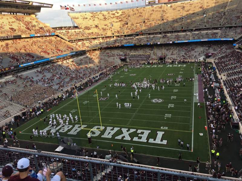 Seating view for Kyle Field Section 318 Row 4 Seat 6