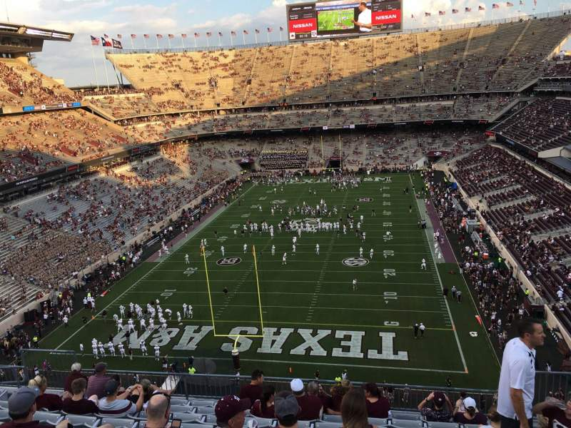 Seating view for Kyle Field Section 319 Row 10 Seat 4