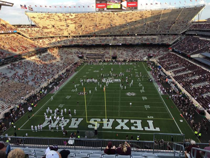 Seating view for Kyle Field Section 320 Row 9 Seat 3