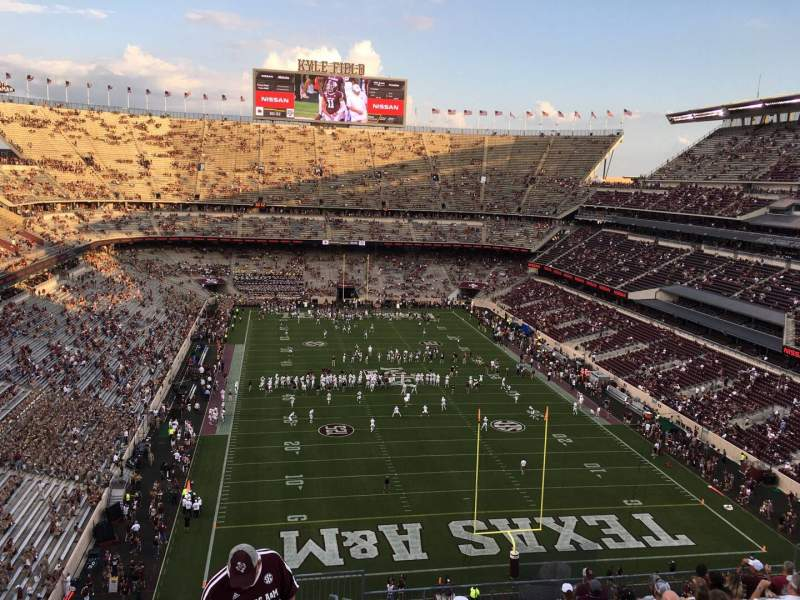 Seating view for Kyle Field Section 323 Row 13 Seat 1