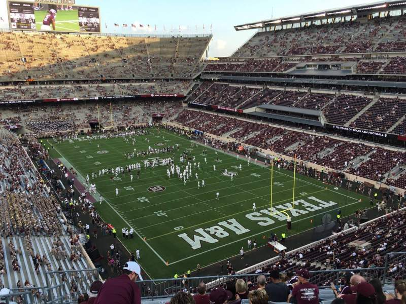 Seating view for Kyle Field Section 315 Row 10 Seat 15