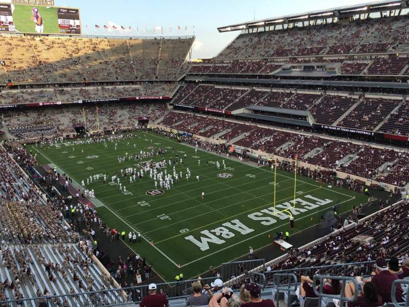 Seating view for Kyle Field Section 326 Row 11 Seat 4