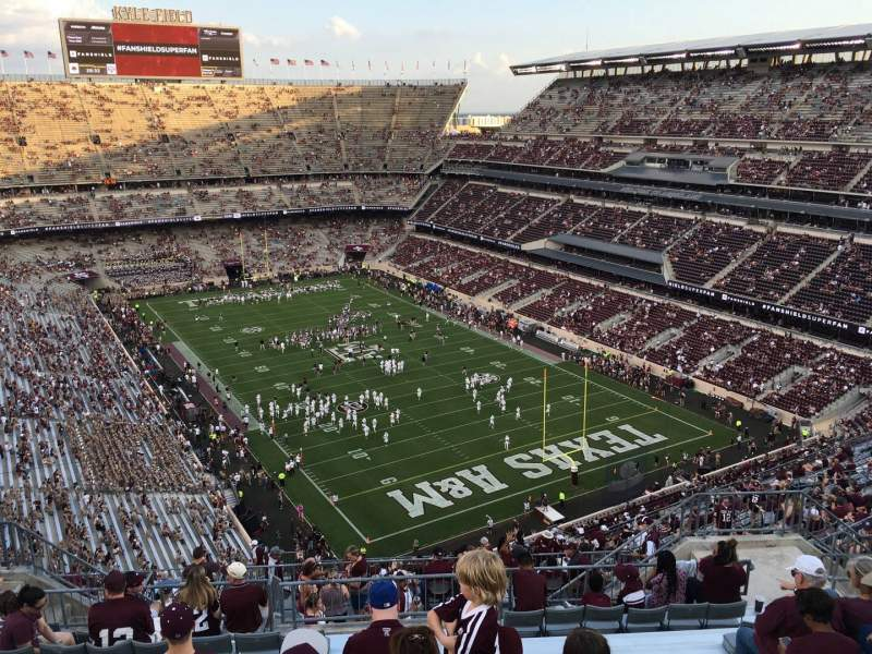 Seating view for Kyle Field Section 420 Row 14 Seat 10