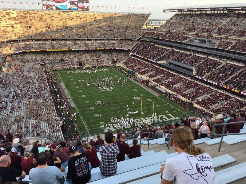 Seating view for Kyle Field Section 419 Row 23 Seat 9