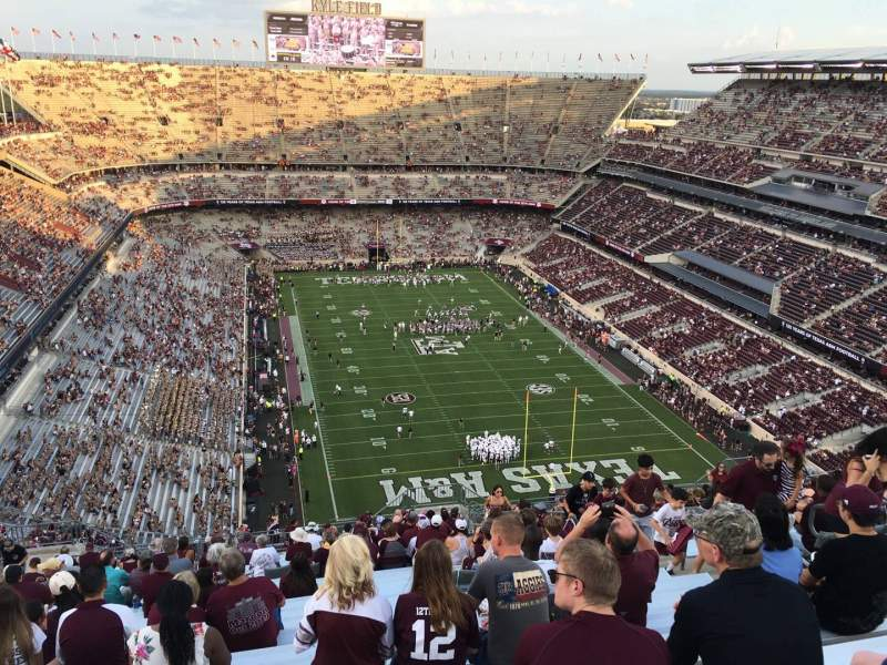 Seating view for Kyle Field Section 418 Row 28 Seat 10
