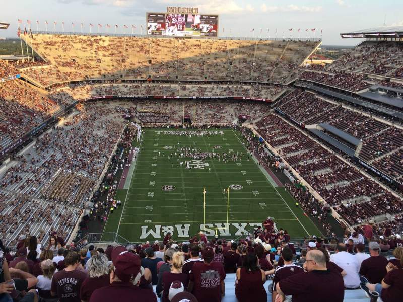 Seating view for Kyle Field Section 416 Row 29 Seat 14