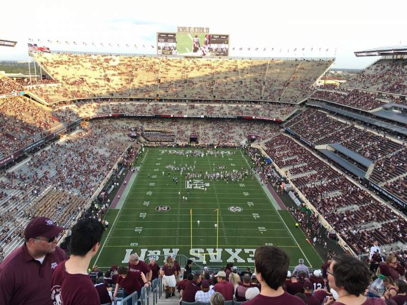 Seating view for Kyle Field Section 415 Row 29 Seat 22
