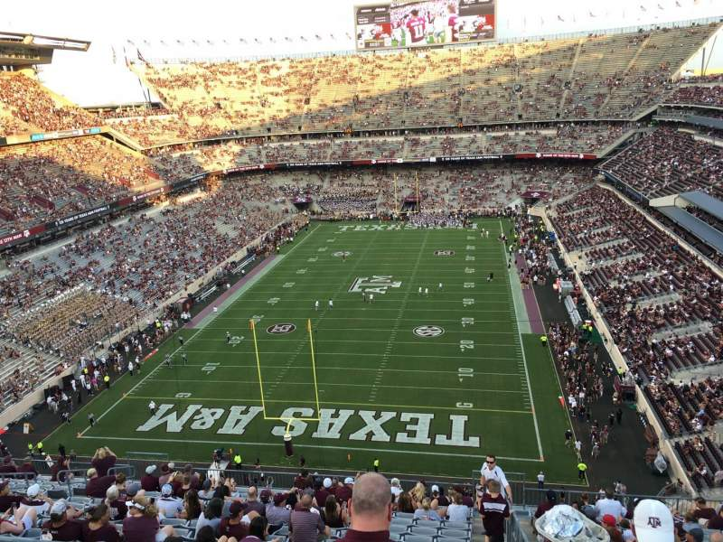 Seating view for Kyle Field Section 413 Row 1 Seat 18
