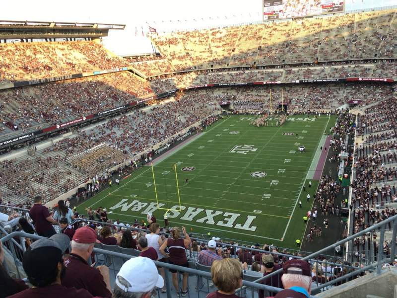 Seating view for Kyle Field Section 412 Row 6 Seat 1
