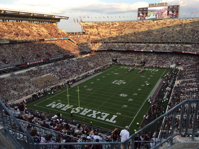 Seating view for Kyle Field Section 411 Row 4 Seat 4