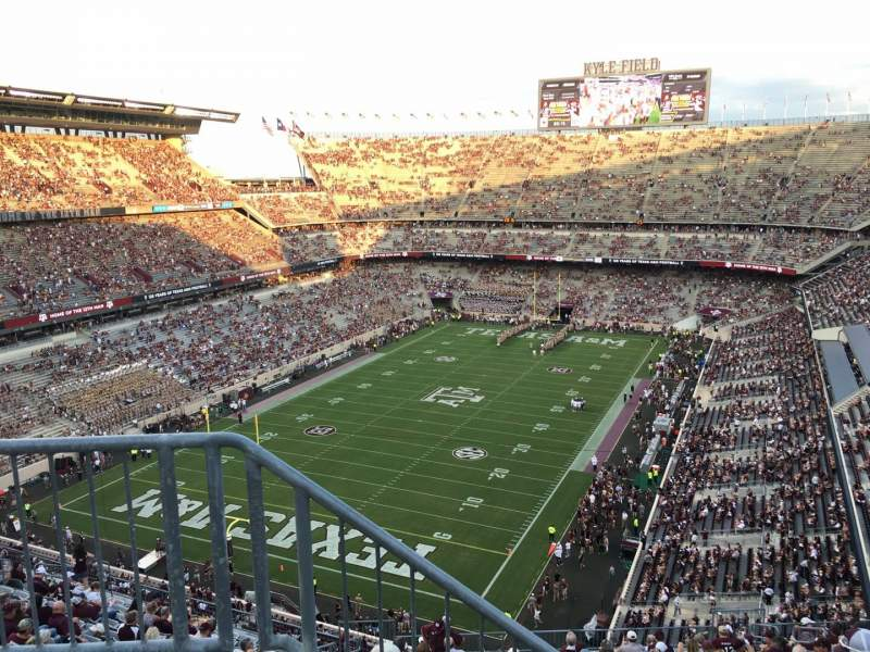 Seating view for Kyle Field Section 410 Row 3 Seat 23