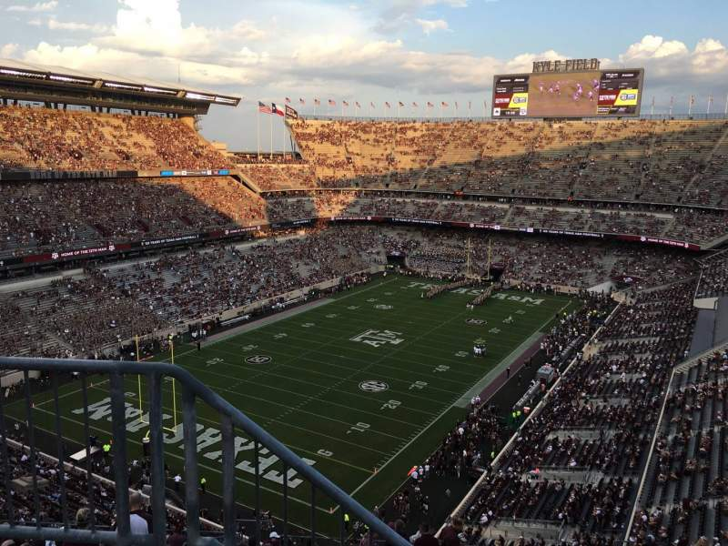 Seating view for Kyle Field Section 409 Row 3 Seat 26