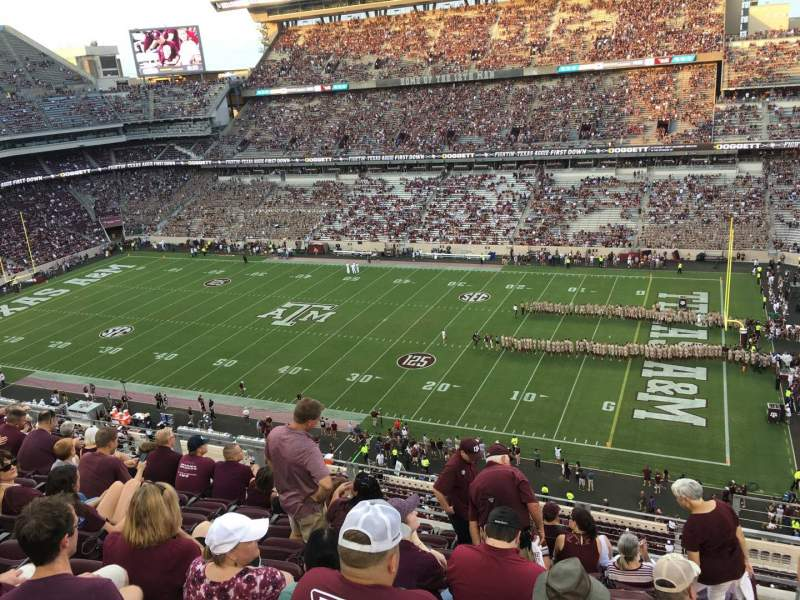 Seating view for Kyle Field Section 302 Row 9 Seat 1
