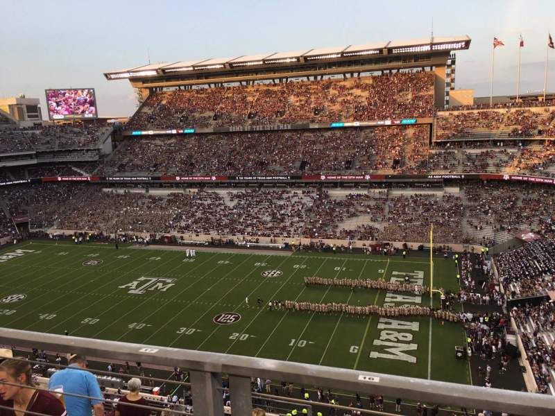 Seating view for Kyle Field Section 302 Row Wc Seat 16