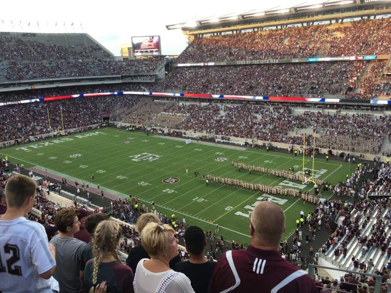 Seating view for Kyle Field Section 301 Row 5 Seat 1