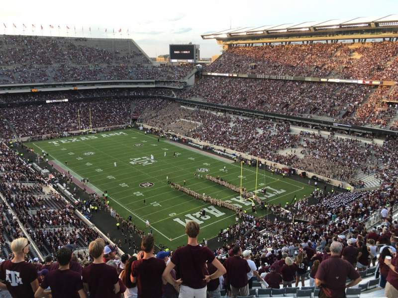 Seating view for Kyle Field Section 349 Row 27 Seat 29