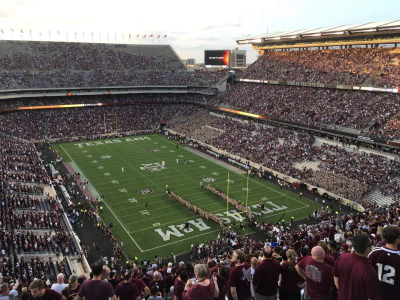 Seating view for Kyle Field Section 348 Row 27 Seat 31