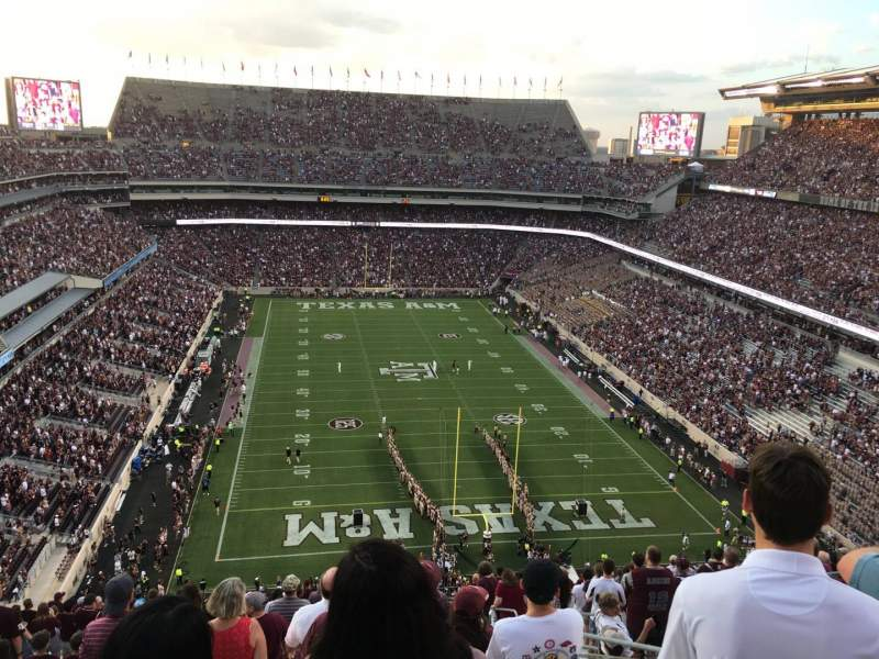 Seating view for Kyle Field Section 347 Row 25 Seat 5