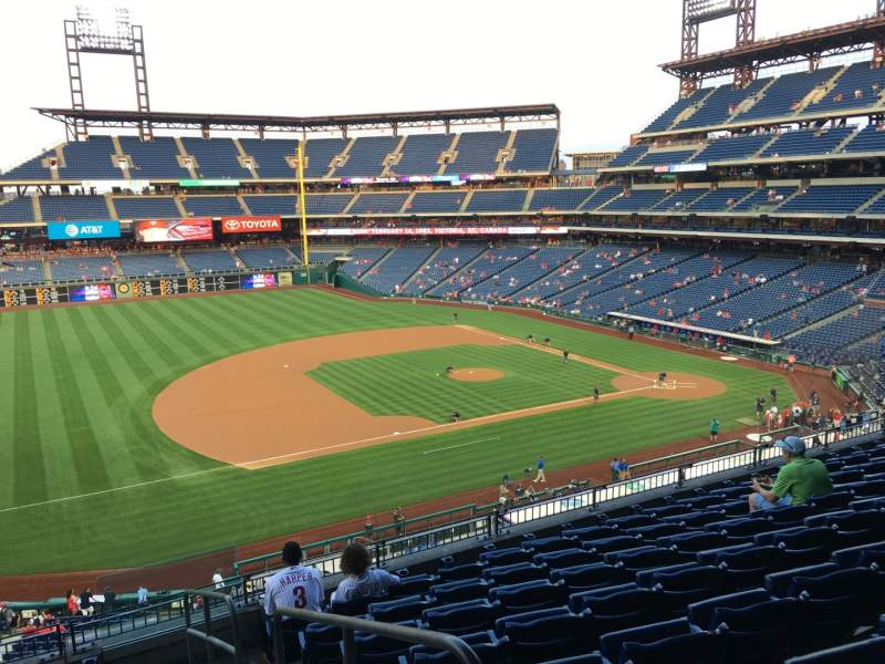 Seating view for Citizens Bank Park Section 231 Row 8 Seat 1