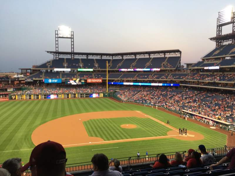 Seating view for Citizens Bank Park Section 229 Row 8 Seat 19