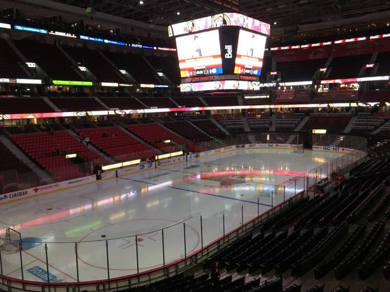 Seating view for Canadian Tire Centre Section 226 Row A Seat 5