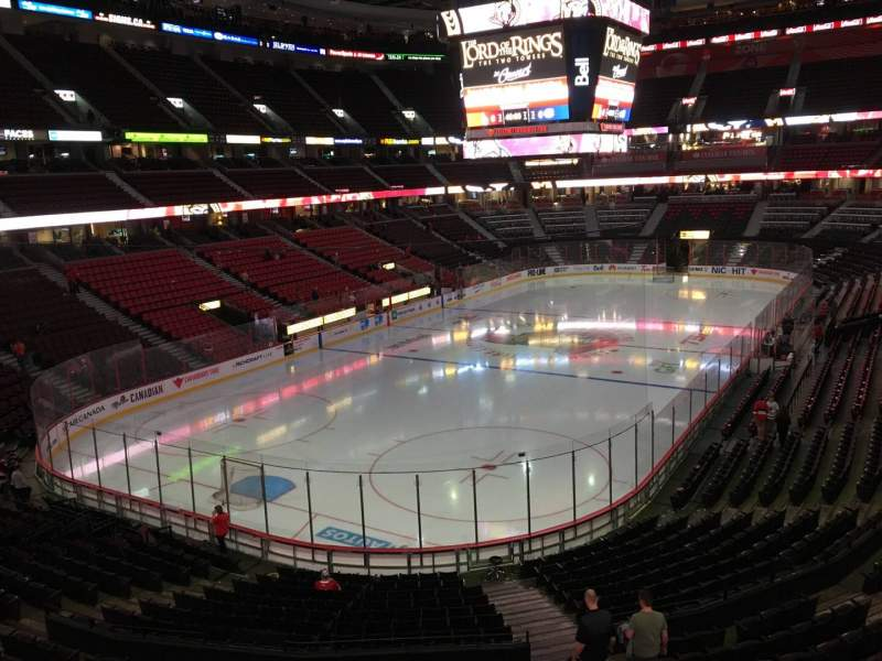 Seating view for Canadian Tire Centre Section 227 Row C Seat 6