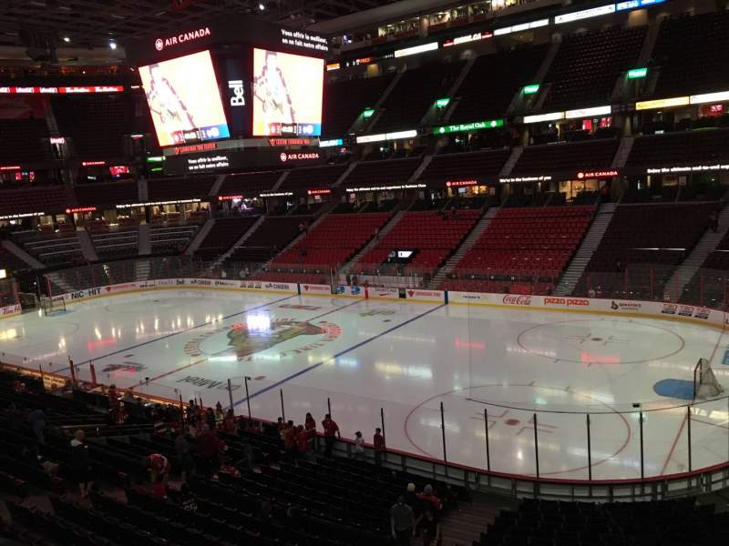 Seating view for Canadian Tire Centre Section 205 Row C Seat 8