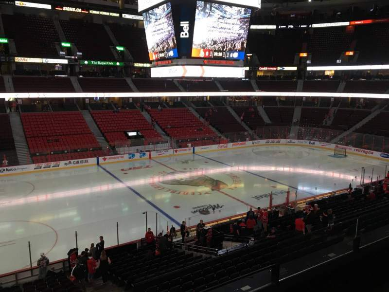 Seating view for Canadian Tire Centre Section 210 Row C Seat 6